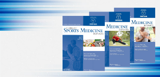 three cover images of current sports medicine reviews from 2020