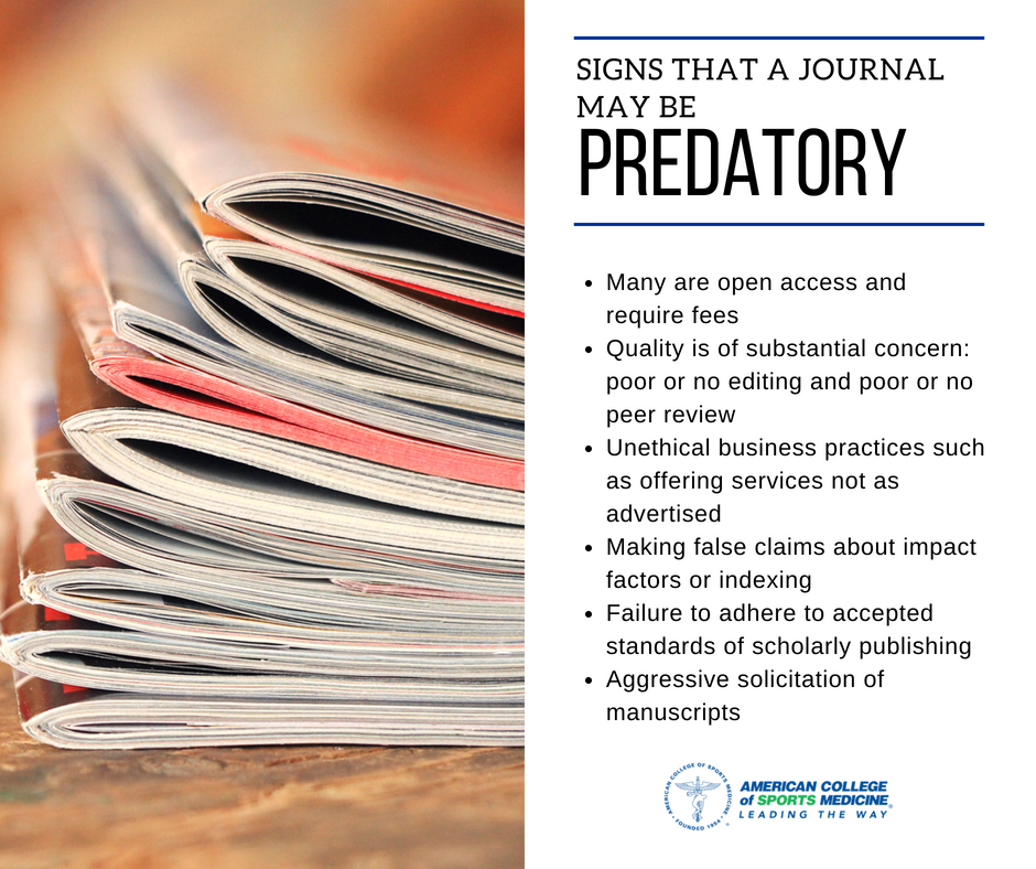 predatory journal signs