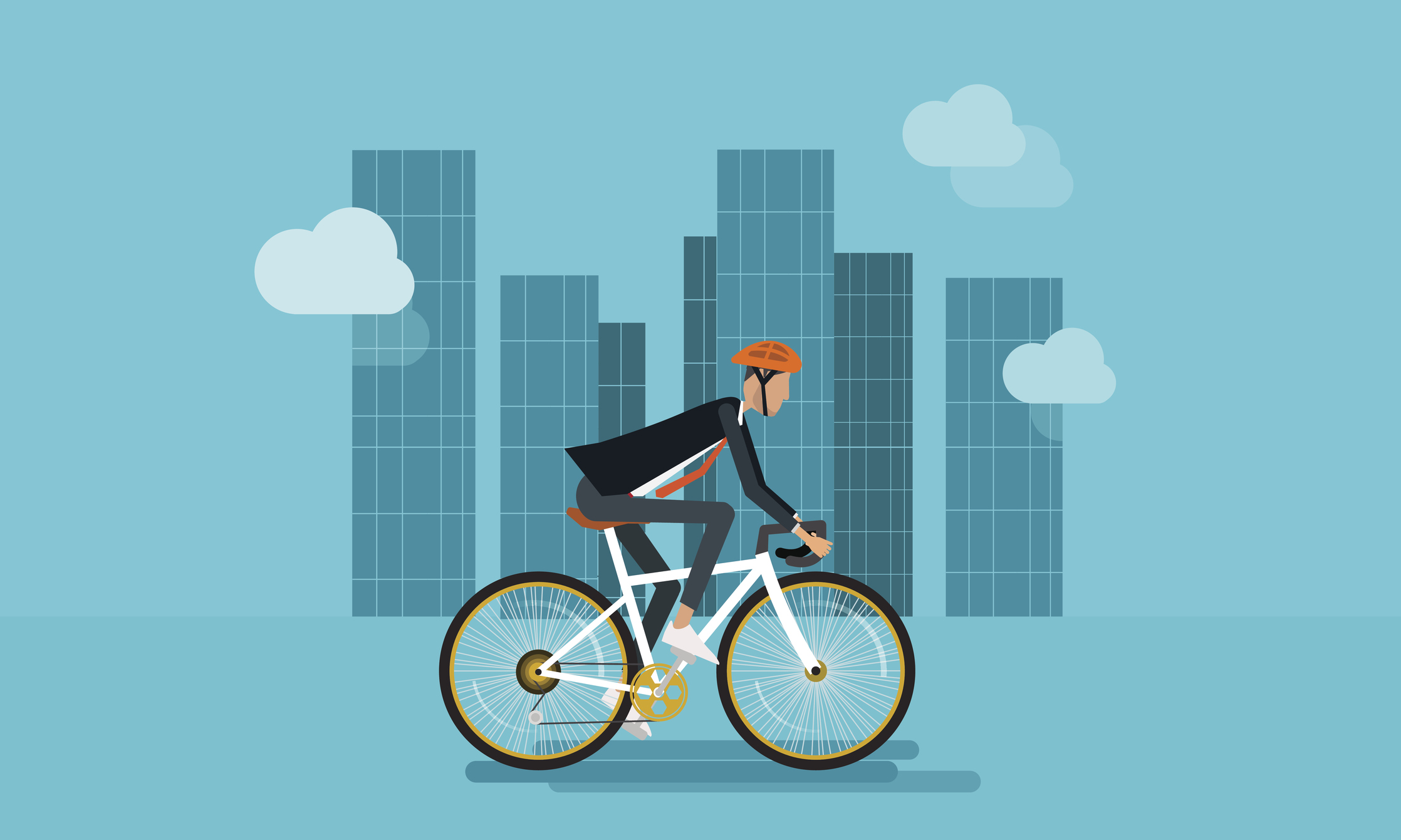 biking illustration
