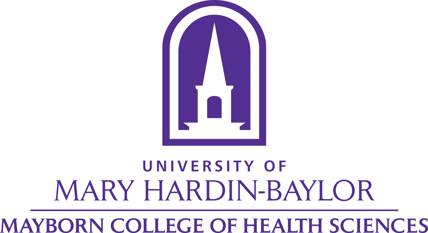 UMHB College of Health Sciences logo vertical