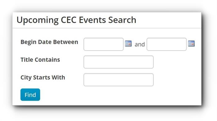 CEC Events Search