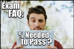 ACSM Exam percent needed to pass