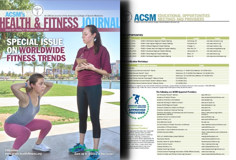 ACSM Continuing Education November 2019
