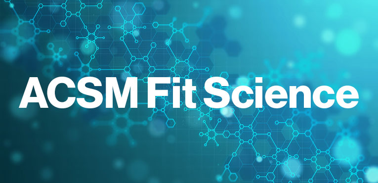 ACSM Certification Fit Science