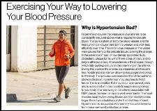 Exercise Lower Blood Pressure ACSM