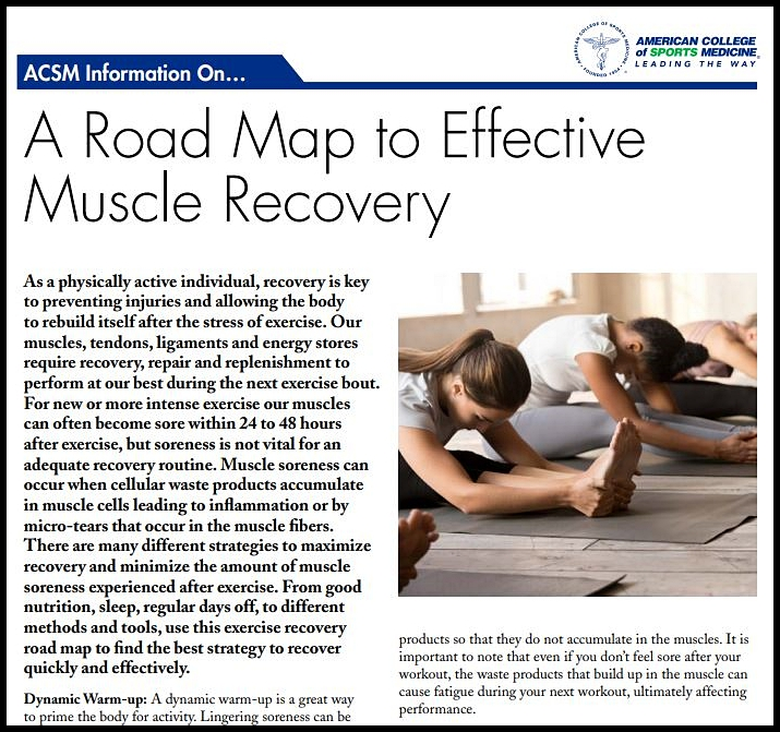 Muscle Recovery Download ACSM