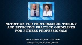 Nutrition for Performance ACSM