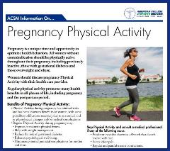Physical Activity Guidelines Pregnancy ACSM