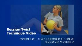 Russian Twist Technique Video ACSM
